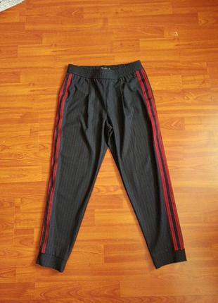 Штаны брюки zara pp xs укороченные с лампасами