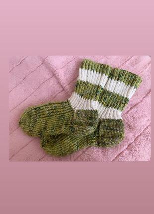 Тёплые вязаные носки, длина 26-27 см размер 41,42,43