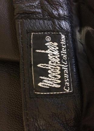 Женские  натуральные кожаные брюки. цвет чёрный4 фото