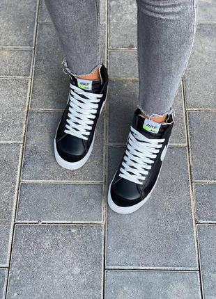 Nike  blazer leather кроссовки найк  наложенный платёж купить9 фото