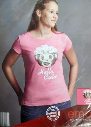 Красивые футболки на девочку подростка р. 146-152 от emoji германия
