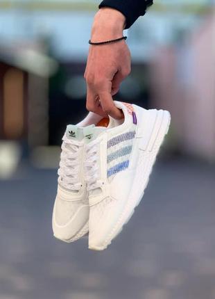 Женские белые кроссовки adidas zx500 multi адидас