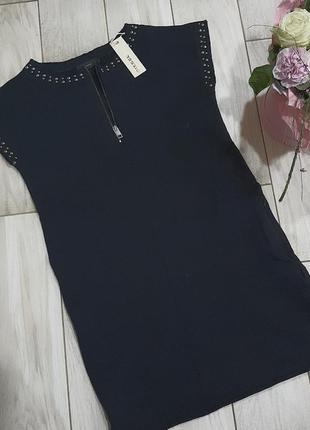 Хлопковое прямое черное платье diesel s2 фото