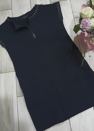 Хлопковое прямое черное платье diesel s9 фото