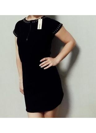 Хлопковое прямое черное платье diesel s7 фото