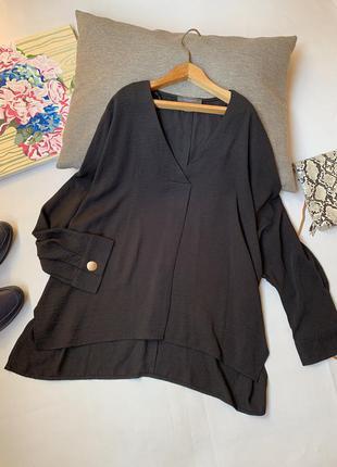Блуза чёрная primark осенняя длинный рукав вольная