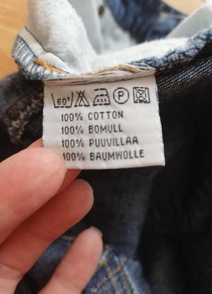 Женская джинсовая коттоновая синяя короткая юбка трапеция hennes - размер 44-463 фото