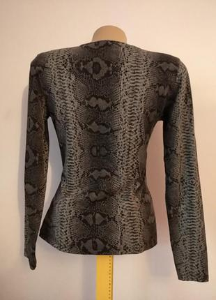 Кофта свитер свитшот топ блуза на запах змеиный принт2 фото