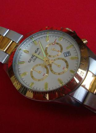 Часы sekonda gold chronograph