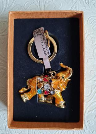 Брелок/подвес золотой слон тайланд6 фото