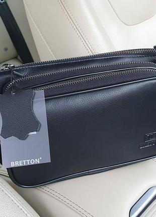 Чоловіча шкіряна сумка на плече,  на пояс bretton