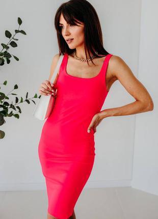 Силуетна сукня-майка з розпоркою3 фото