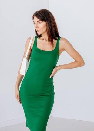 Силуетна сукня-майка з розпоркою1 фото