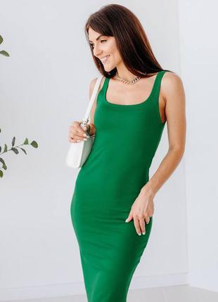 Силуетна сукня-майка з розпоркою4 фото