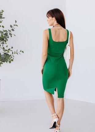 Силуетна сукня-майка з розпоркою5 фото