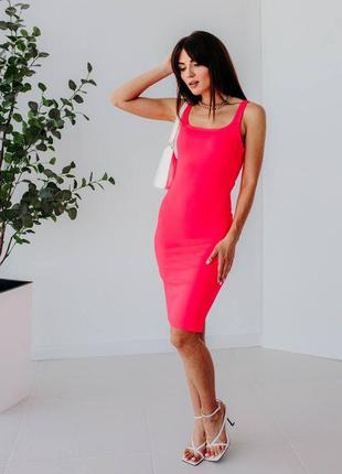 Силуетна сукня-майка з розпоркою6 фото