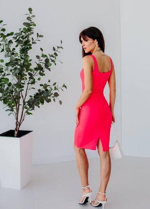 Силуетна сукня-майка з розпоркою8 фото