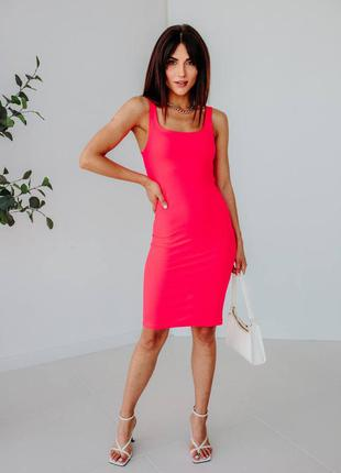 Силуетна сукня-майка з розпоркою7 фото