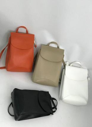 Жіночий рокзак трансформер, екошкіра, доступний в різних кольорах