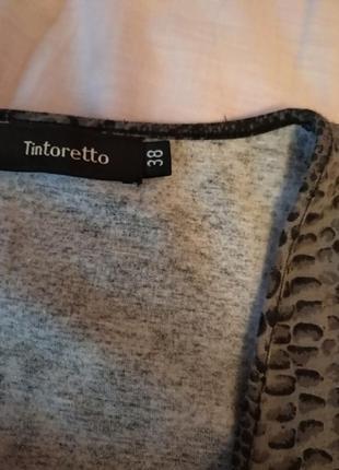 Кофта свитер свитшот топ блуза на запах змеиный принт6 фото