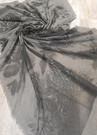 Трендовый шарф палантин / накидка парео / платок5 фото