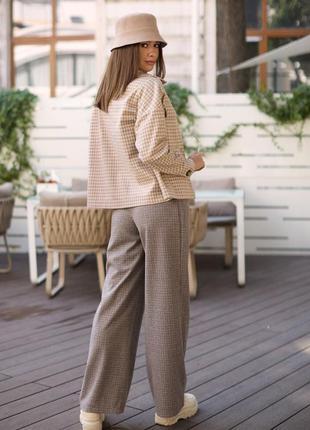 Стильные широкие брюки с высокой посадкой2 фото
