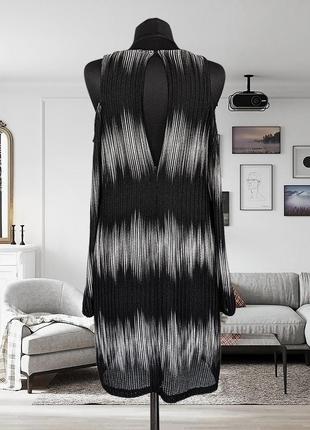 Платье трикотажное с открытыми плечами zara4 фото