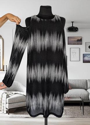 Платье трикотажное с открытыми плечами zara3 фото