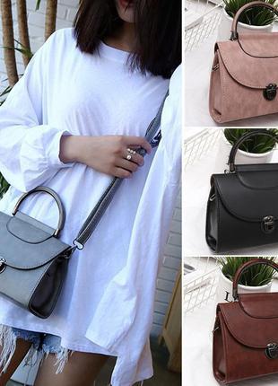 Модная сумка сундук с круглой ручкой