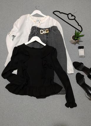 Шикарная черная блуза🍾🍷1 фото