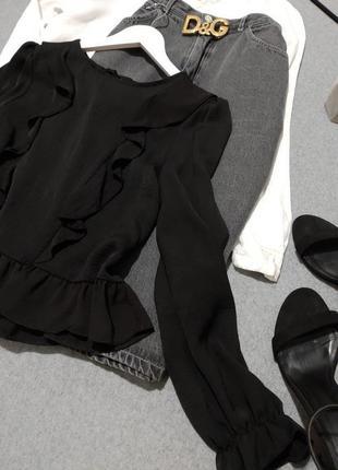 Шикарная черная блуза🍾🍷2 фото