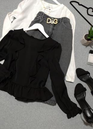 Шикарная черная блуза🍾🍷6 фото