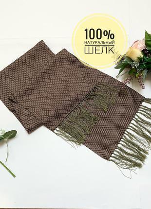Jjb benson натуральный шелк платок шарф