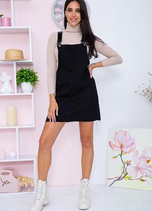 Сарафан джинсовый цвет черный 164r102 67074