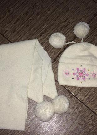 Красивый , тёплый комплект шапка и шарф grans, польша