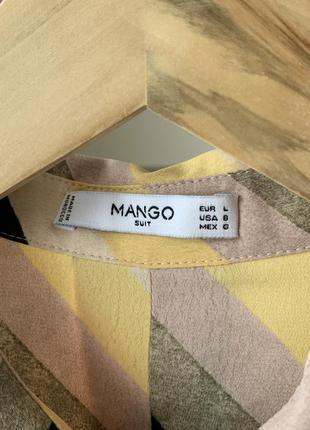 Рубашка блузка в полоску диагональ манго3 фото