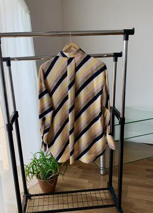 Рубашка блузка в полоску диагональ манго5 фото