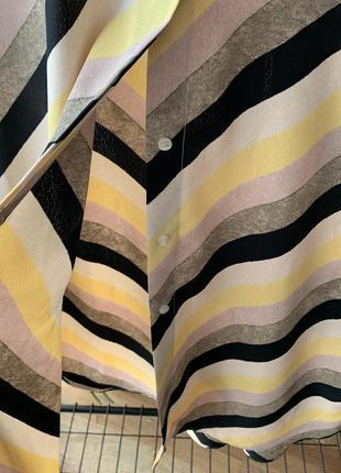 Рубашка блузка в полоску диагональ манго6 фото