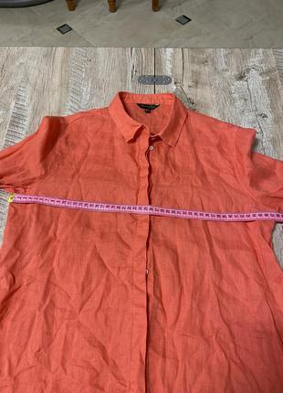 Рубашка лён massimo dutti оригинал3 фото