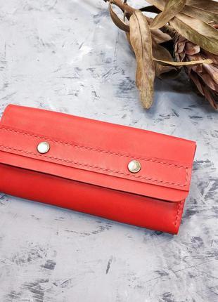 Женский кожаный кошелёк stedley классик ручной работы2 фото
