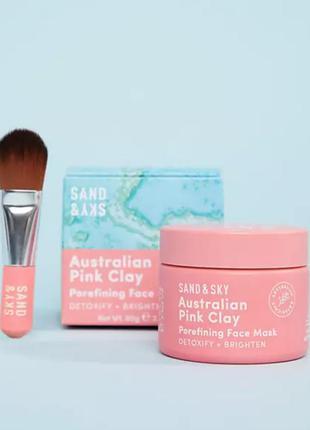 Маска с розовой глиной для лица sand&sky australian pink clay