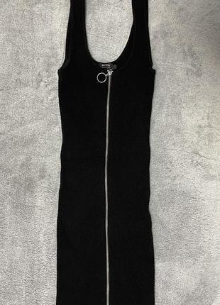 Платье в рубчик bershka1 фото