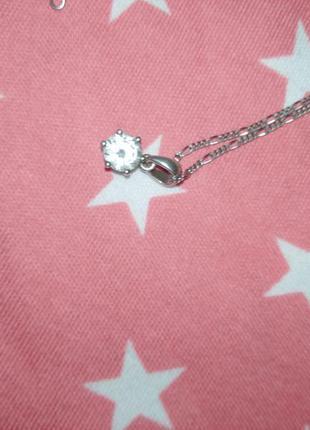 Цепочка(45см) серебряная с подвеской, кулончиком. серебро 925 проба родированное5 фото