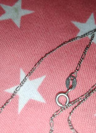 Цепочка(45см) серебряная с подвеской, кулончиком. серебро 925 проба родированное4 фото