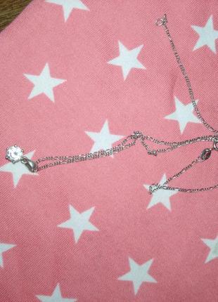Цепочка(45см) серебряная с подвеской, кулончиком. серебро 925 проба родированное3 фото