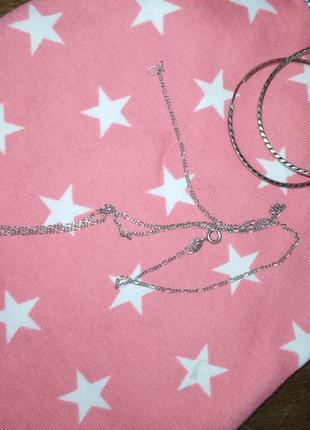 Цепочка(45см) серебряная с подвеской, кулончиком. серебро 925 проба родированное6 фото