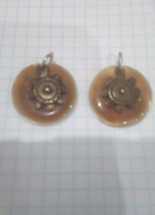 Две подвески перламутр нат3 фото