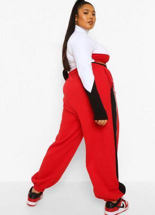 Вільні джоггери великого розміру червоного кольору2 фото