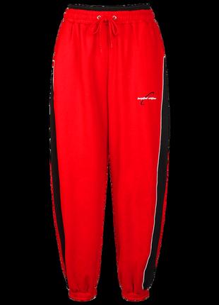 Вільні джоггери великого розміру червоного кольору5 фото