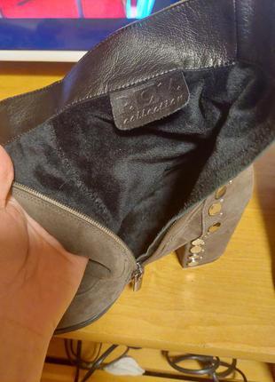 Шикарные замшевые ботиночки4 фото